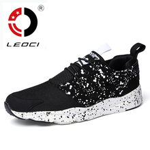 LEOCI New 2016 Men Running Shoes Light Breathable Mens Sports Shoes Running Trainers Sneakers Zapatillas Running Hombre
