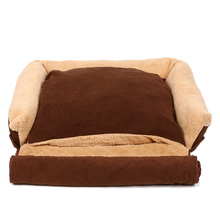 HOOPET Pet Dog Sofa Cat Soft Warm Funny Bed Cushion Puppy 4 Ways Use High Quality House Kennel