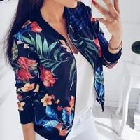 Cool Girl Jacket Coat Floral Embroidered Bomber Jacket Women Autumn Flower Baseball Basic Print Jacket Female White Coat 2018