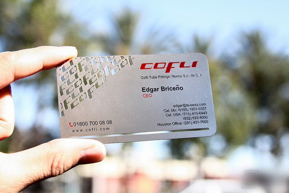 Metal business card vip cards Solid stainless steel etched frosted ...