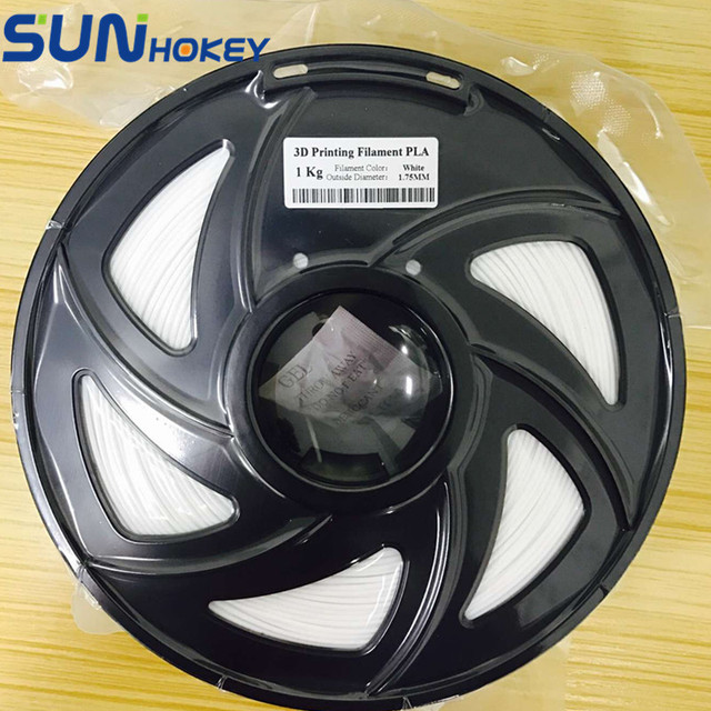 SGS ROHS 3D Printer Filament 1KG White ABS/PLA 1.75mm Filament/Plastic Rod Upgraded Quality for Reprap/ MakerBot/Delta Printer