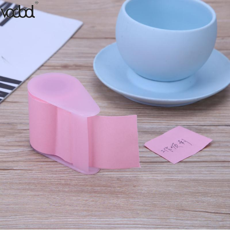 1 PC Tape Dispenser Formula Fluorescent Paper Sticker Memo Pad Sticky Notes Post Stationery Can Tear Memo Pad 3 Colors
