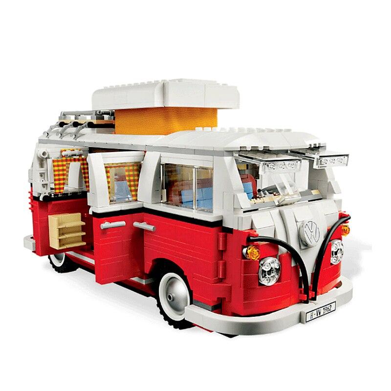 Nouvelle technique bloque le T1 camping-Car Car ville blocs de construction Legoings amis briques enfants jouets pour enfants cadeau