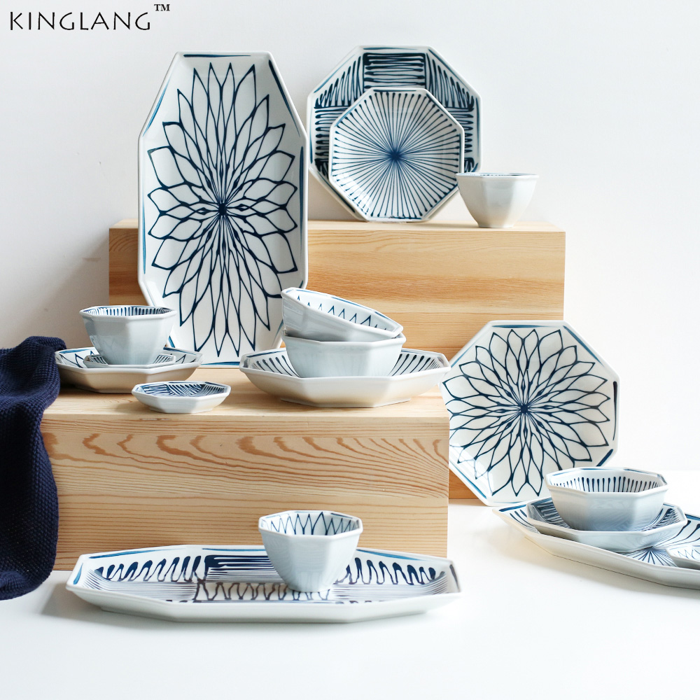 Japanese Blue And White Series Ceramic Dinnerware Set