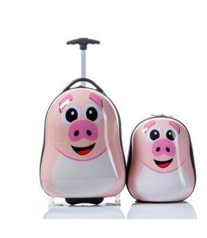 Dla dzieci podróży wózek walizka na kółkach na kółkach Cartoon plecak dla dzieci plecak na kółkach walizka podróżna dzieci toczenia bagażu torby w Torby podróżne od Bagaże i torby na  Grupa 3