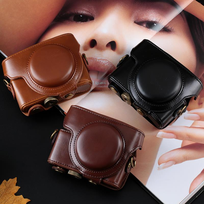 Nice PU Leather Camera Case Cover Bag for Sony Cyber-Shot RX100V RX100IV RX100II RX100III DSC-RX100 M3 rx100 III RX 100 II IV V