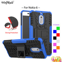 For Cover Nokia 6 Case WolfRule TPU & PC Holder Armor Bumper Protective Back Phone Case For Nokia 6 Cover For Nokia6 2017 5.5'' стоимость