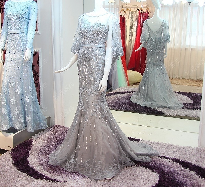 Backlake Custom Made 100% Real Photos Simple Sleeveless Wedding Dresses Embroidery Crystal Vestido de Noiva