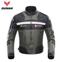 DUHAN Motorcycle Jacket Autumn Winter Men's Motorbike Moto Jacket Windproof Cold proof Protective Gear Motocross Jacket Clothing