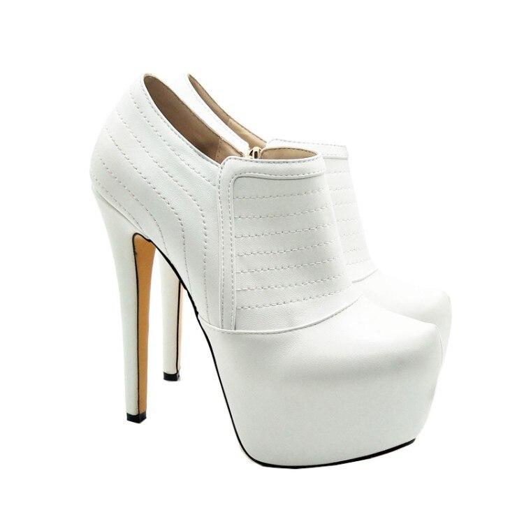 Nous Taille Nouvelle L'intention Bottes 5 Minces Talons Femmes Blanc Rond Bout Plus 4 Mode Élégant Initiale Chaussures 10 Femme Hauts ZqwACqxa