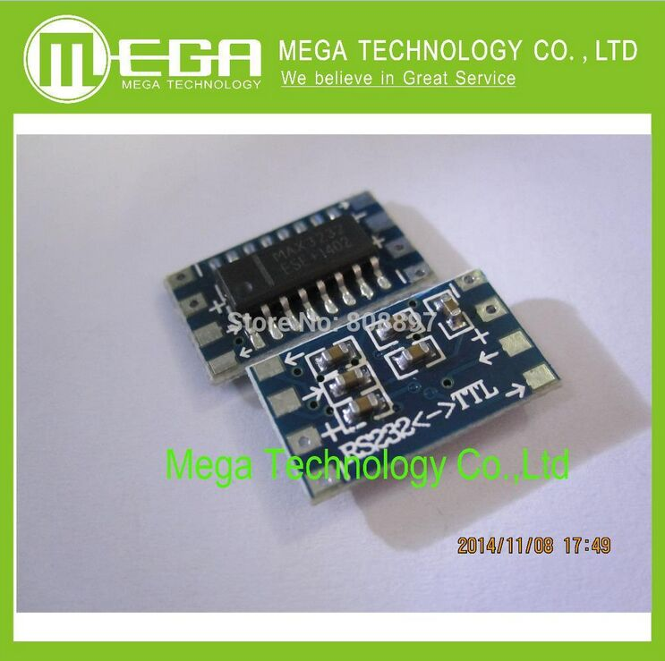 mini RS232 MAX3232 Levels to TTL level converter board serial converter board Dr