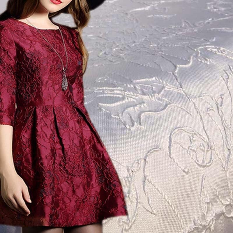 1 quintal Ouro Jacquard Brocado Tecido Para O Vestido de Casamento, 90*140 cm, Diy Costura Tecidos, vestido de noite Patchwork Material de Tecido Pano
