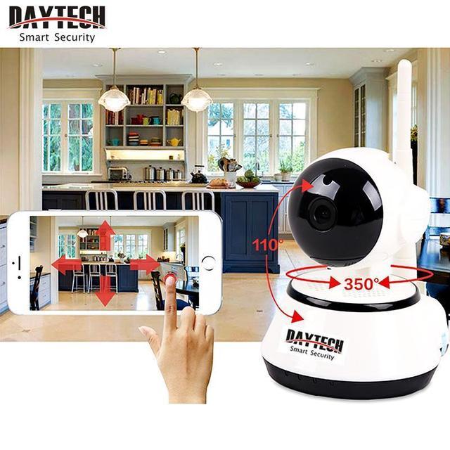 Daytech Home Security IP Camera Wireless WiFi Camera Surveillance 720P Night Vision CCTV Baby Monitor DT-C8815