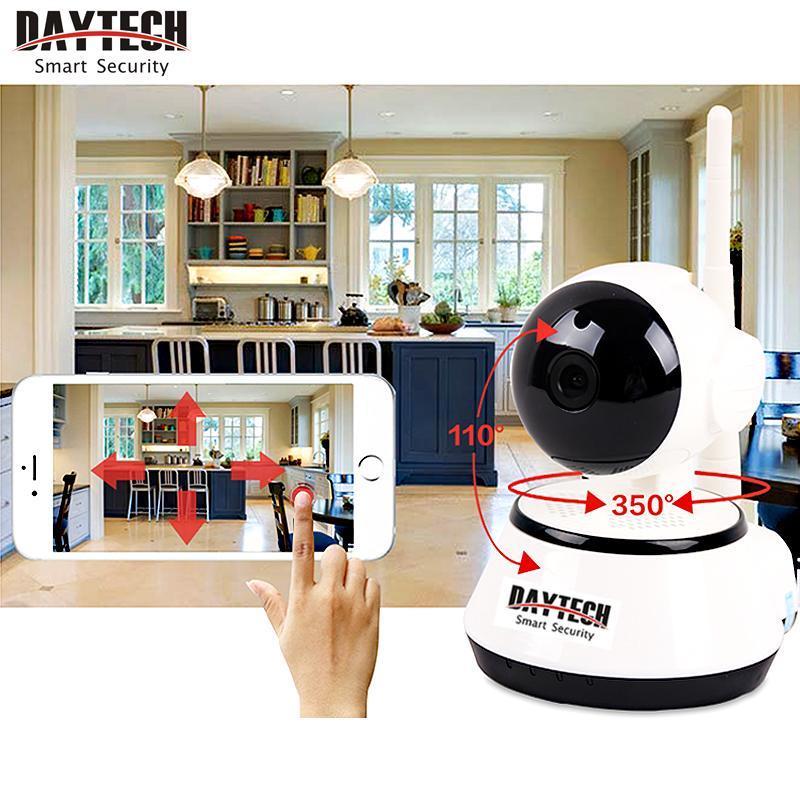 Daytech Home cámaras de Seguridad Ip Inalámbrica WiFi Cámara de Vigilancia 720 P Visión Nocturna CCTV Monitor de Bebé DT-C8815