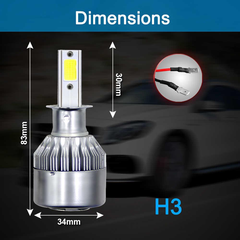 Enhanced 2Pcs H4 H7 Car LED Headlights Lights Bulbs 9003 HB2 H11 LED H1 H3 H8 H9 880 9005 9006 H13 9004 9007 Auto  Led Lamps