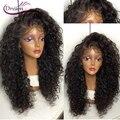 Sueño de Belleza de la virgen del pelo pelucas delanteras del cordón 180% sin procesar ondulado brasileño pelucas llenas del cordón sin cola llena del cordón pelucas de cabello humano