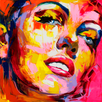 Nielly Francoise Artwork Marilyn Monroe Hand Painted Wall Art On Canvas Portrait Oil Painting Modern Canvas