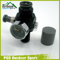 "Paintball 4500psi Mini Air Tank Regulator Valve Two Burst Disk 800psi Output 5/8""-18UNF Threads in Tank"