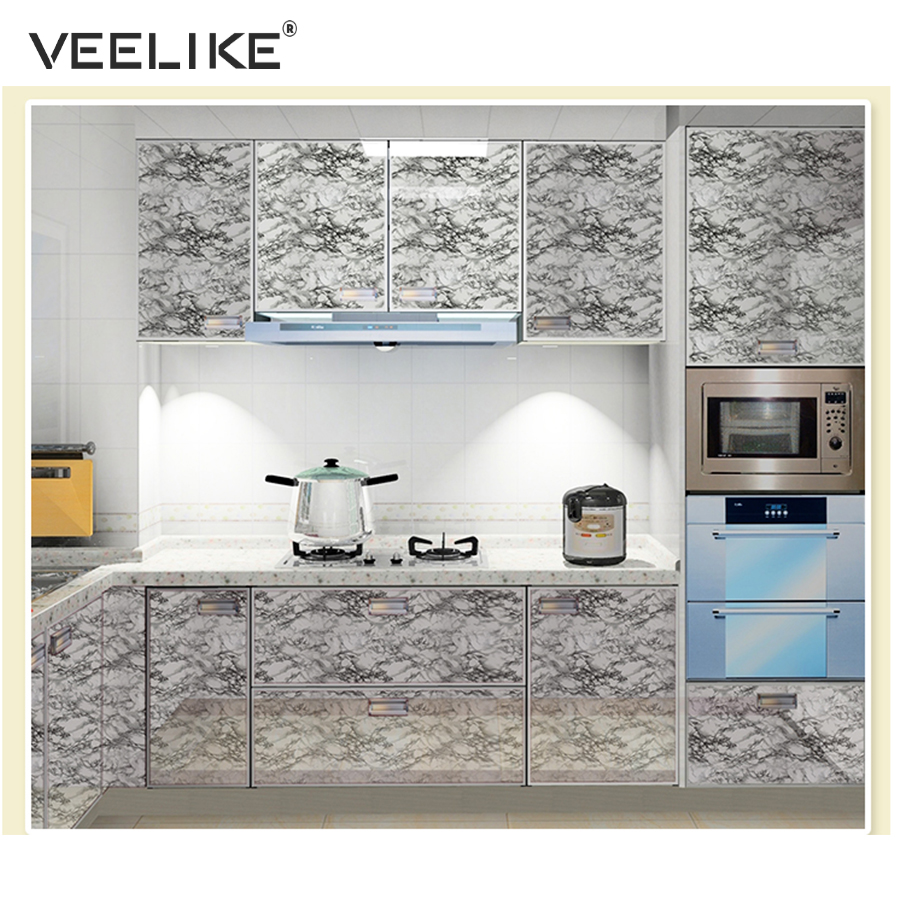 US $9.99 40% OFF|Vinyl Granite Marble Contact Paper for Kitchen Countertops  Self adhesive Wallpaper for Kitchen Cabinets Shelf Liner Home Decor-in ...