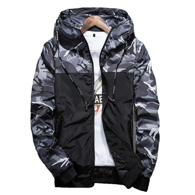 2018 Горячие Демисезонный Для мужчин камуфляж пальто Для мужчин S Толстовки повседневная куртка брендовая одежда Для мужчин S ветровка Пальто для будущих мам мужской верхней одежды 5xl