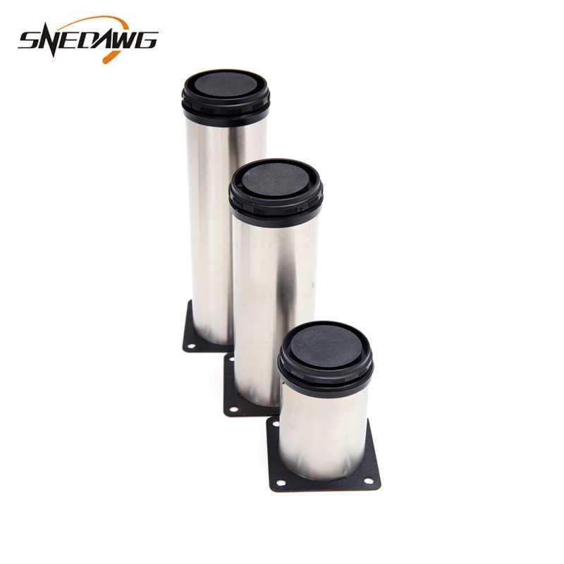 Ножки для мебели из нержавеющей стали 50-500 мм высота ножек для мебели 15 мм регулируемый шкаф ножки для стола Регулируемая мебель