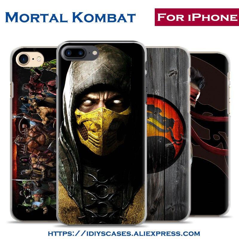 Video juego mortal kombat personalidad de la moda del teléfono case cubierta de