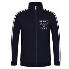 Yeni varış tasarım özel tişörtü çiftler kadın ve erkek rahat Hoodies uzun kollu ceket ceket baskı kendi Logo metin