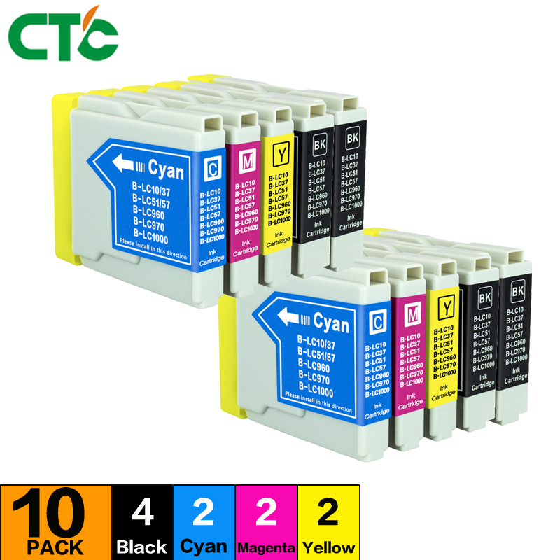 10PCS MFC-230C Ink Cartridge Compatible For Brother MFC-235C 240C 260C 265C 440CN 460CN 465CN 630CD 660CN printer Inkjet