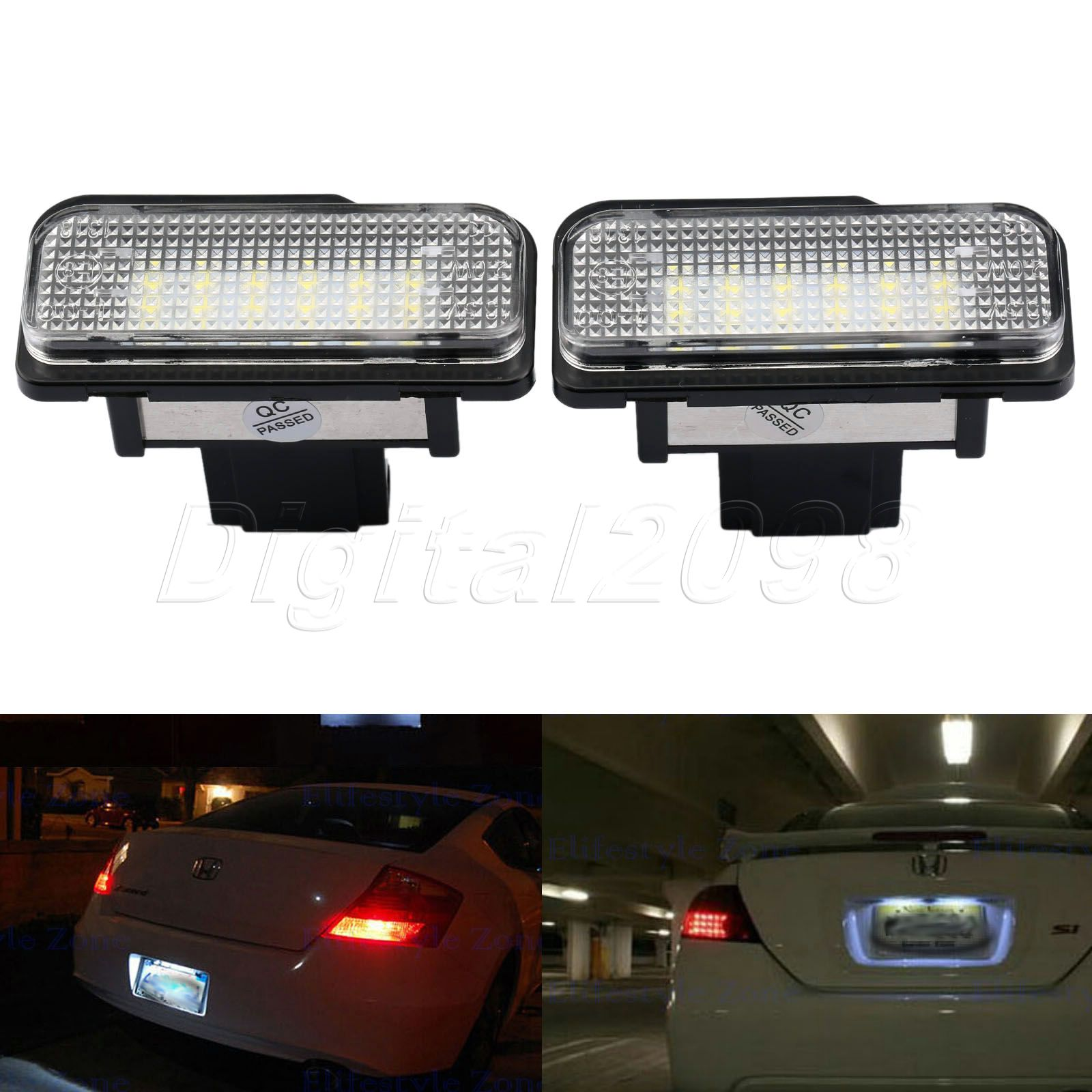 Yetaha 2Pcs Car LED License Number Plate Light Bulb Lamp  White Error Free 12V SMD3528 For Mercedes W211 W203 W219 R171 2 pair super white 6000k canbus error free smd chip car led license plate light auto lamp number for ford mondeo mk ii 96 00
