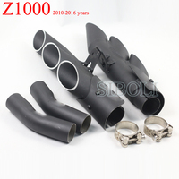 Z1000 Motorcycle Slip on Full System TOCE Exhaust Muffler Pipe Link Middle Pipe For Kawasaki Z1000 2010 11 12 13 14 15 2016