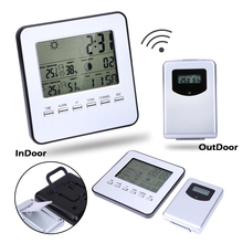 Big discount LCD Wireless Weather Station + Sensor Digital Indoor/Outdoor Thermometer Hygrometer Temperature Humidity Meter Date Alarm Clock