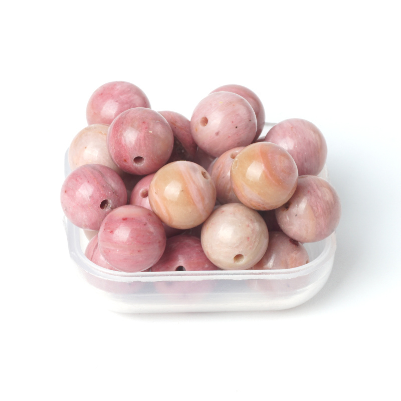 TopGoods Natural Gemstone Beads Pink Rhodonite Stone Loose Rosary - Նուրբ զարդեր - Լուսանկար 6