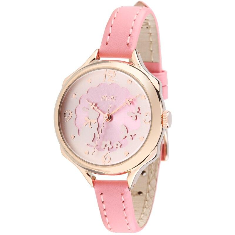 Romantic Girls Lovely Clay Rabbit Watches Original Quartz Leather Strap Wristwatch Factory Price Korean Mini Brand Clock NW840 Наручные часы