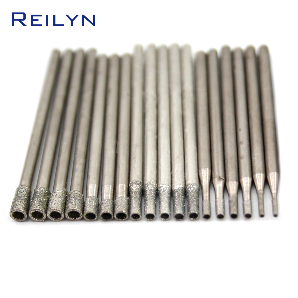 Reilyn Emergy Diamond Grinding Burr Abrasives Jade Grinding Bits Teeth Grinding Needle Die Grinder Dremel Rotary Tools
