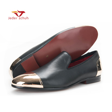 men loafers  leather loafers around gold buttoned member minimalist design men flats wedding and party shoes plus size men shoes new gold toe and gold crystal handmade men loafers men fashion leather slippers men party and wedding dress shoes men s flats