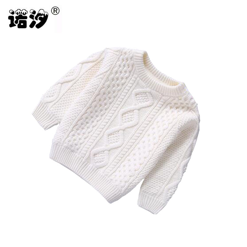 Baby Clothes O-Neck Warm baby boys Pullovers plush inside sweater girls Winter Autumn Knitted Loose Tops 1-3 Y new born clothes rugod 2018 new knitted winter dress women pullovers fashion sweet solid o neck long sleeves pull femme christmas sweater dress