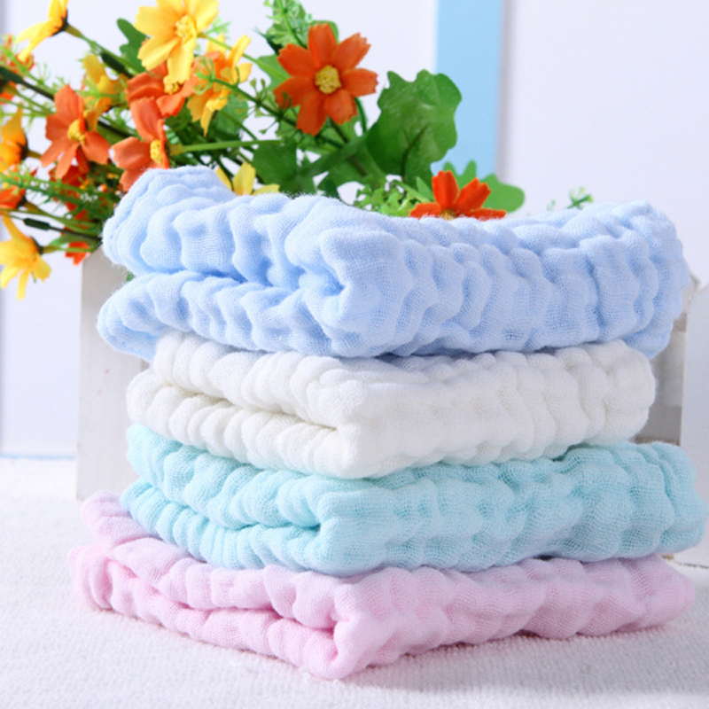 2pcs / σετ 6layer 28 * 28cm 100% βαμβακερό μωρό πετσετάκι πετσέτα γάζα μαστίγιο Muslin μωρό σκούπισμα Sweat απορροφητικό μωρό bib μαλακό μαντήλι X