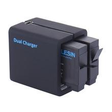 TELESIN Двойные Слоты Черный USB Зарядное Устройство и Запасные Батареи с Зарядным Шнуром для Gopro Hero 4 действий Камеры