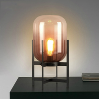 Светодио дный Nordic Стол lights прикроватная тумбочка для спальни светильники промышленные Ретро освещения дома деко освещения гостиная настол