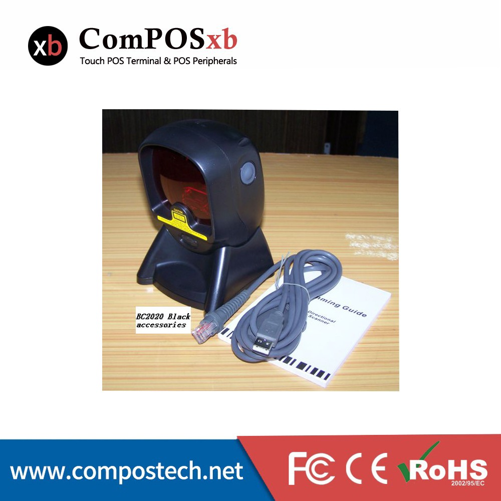 Auto discrimination of bar codes USB/PS2 interface BC2020 Omni directional Laser Scanner compos bc2020 omni directional laser barcode scanner