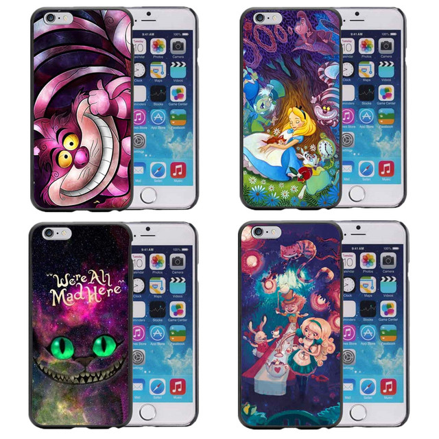 the latest b6dfd 43c94 Aliexpress.com : Buy Alice in Wonderland Nebula for Galaxy Space Cheshire  Cat Hard Phone Cases For iPhone SE 5 5s 6 6S plus 7 7Plus SE 8 8Plus X 10  ...