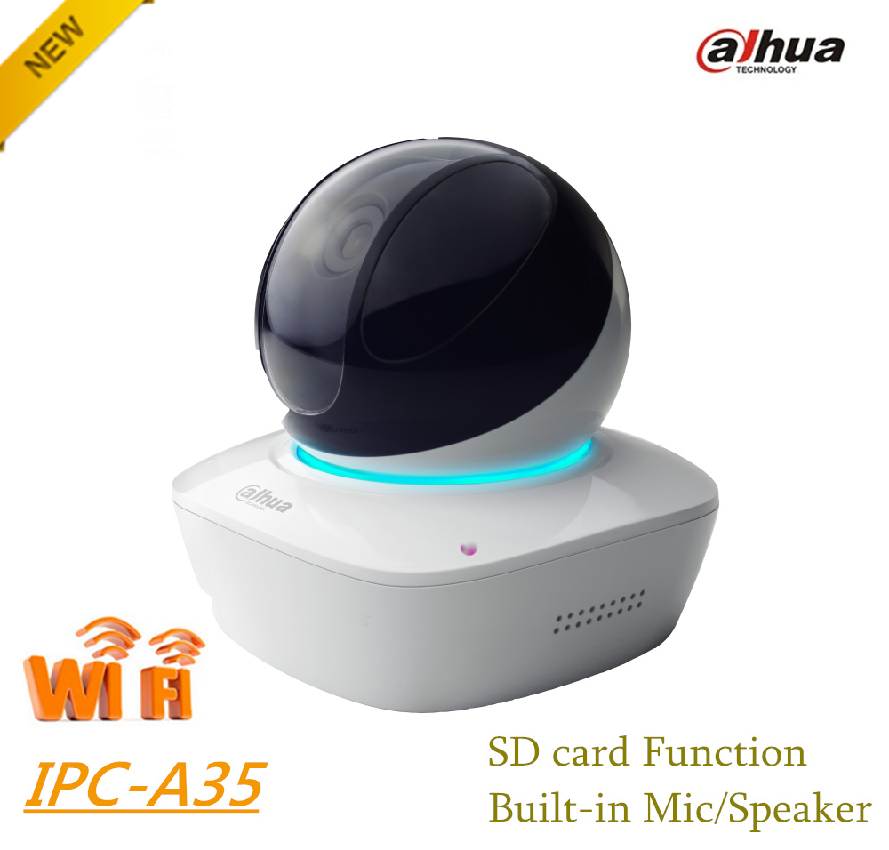 все цены на Dahua 3MP Wi-Fi PT Camera IPC-A35 Wireless Network Camera Easy4ip cloud support Sd card up to 128G Built-in Mic & Speaker онлайн