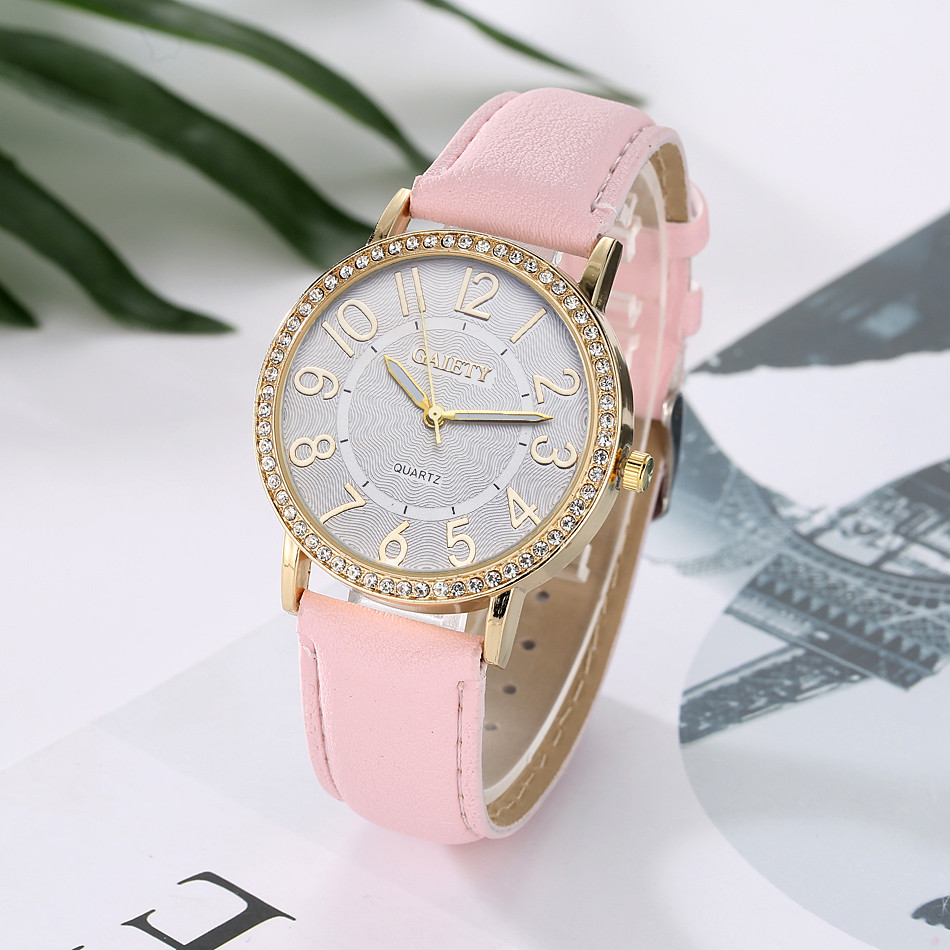 Top Brand Exquisite Small Women Dress Watches Retro Leather Female Clock Women's Fashion Design Bracelet Wristwatches Clock #W