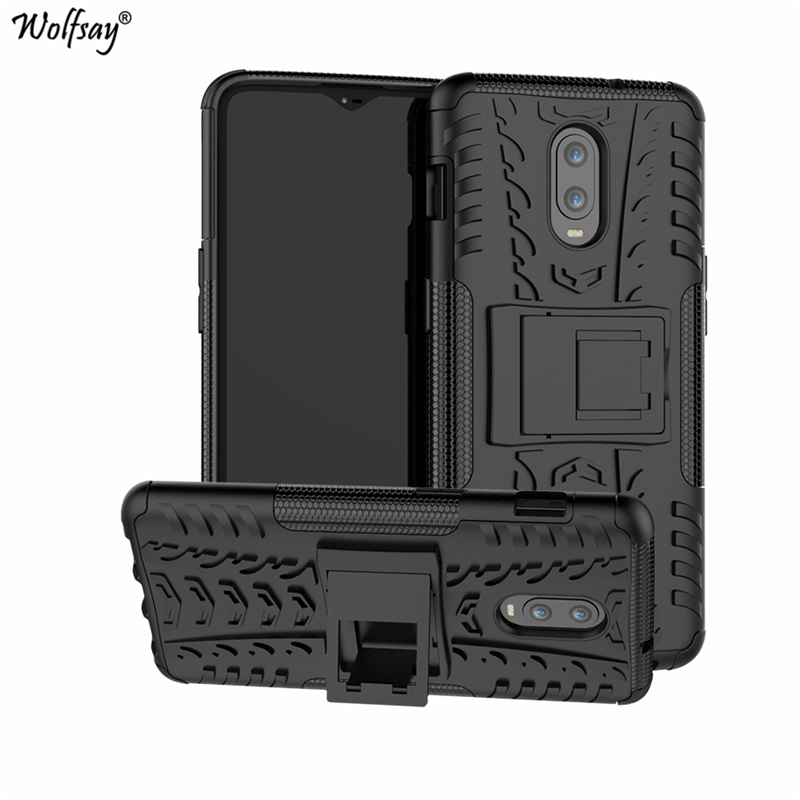 Case for <font><b>Oneplus</b></font> 6T Cover, Soft Rubber & Hard PC Case For One Plus 6T Case Phone Holder for <font><b>OnePlus</b></font> 6T fundas <font><b>A6013</b></font> Wolfsay image