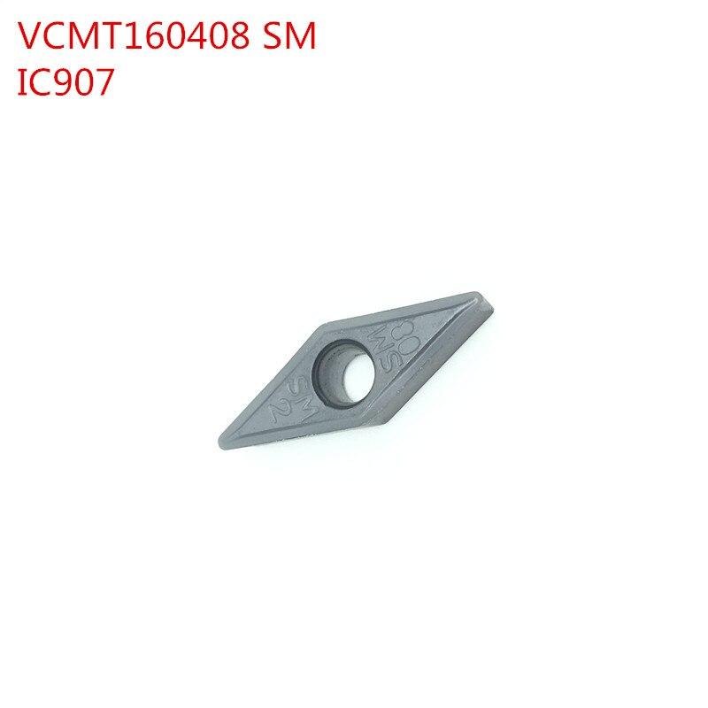 100 pz VCMT160408 SM IC907 Interno Utensili di Tornitura inserti In Metallo Duro Tornio taglierina Utensile Da Taglio CNC Strumenti di Tokarnyy100 pz VCMT160408 SM IC907 Interno Utensili di Tornitura inserti In Metallo Duro Tornio taglierina Utensile Da Taglio CNC Strumenti di Tokarnyy