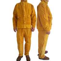 Welding Safety Clothing Flame Retardant Pure Leather Welder Protective Clothing Anti scalding Welder overalls Workplace Clothes