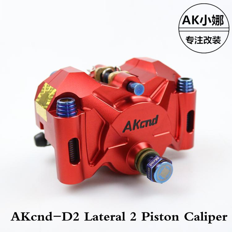 Motorcycle Brake Caliper Akcnd-d2 Brake Pump 34mm*2 Piston 82mm Rpm For Yamaha Scooter Rsz Force Jog Aerox Nitro Bws100 Zuma high quality carburetor for yamaha 4dm zuma bws50 bws100 jog50 jog90 4vp e4101 30 00