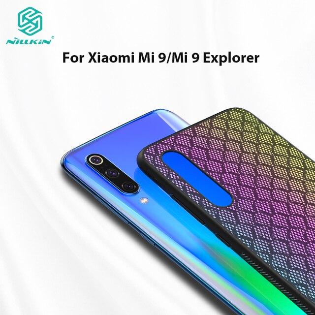 NILLKIN المنسوجة شبكة بوليستر عاكس حافظة ظهر جراب هاتف شاومي mi 9 الحال بالنسبة شياو mi mi 9 explorer حافظة 6.39 بوصة
