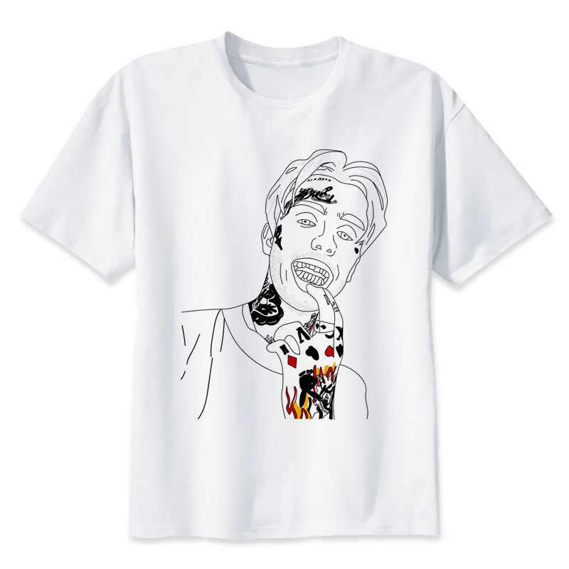 b4819ed5b ... rapper lil peep T Shirt Men Fashion Tee Shirts hip hop Male Plus Size  clothings top