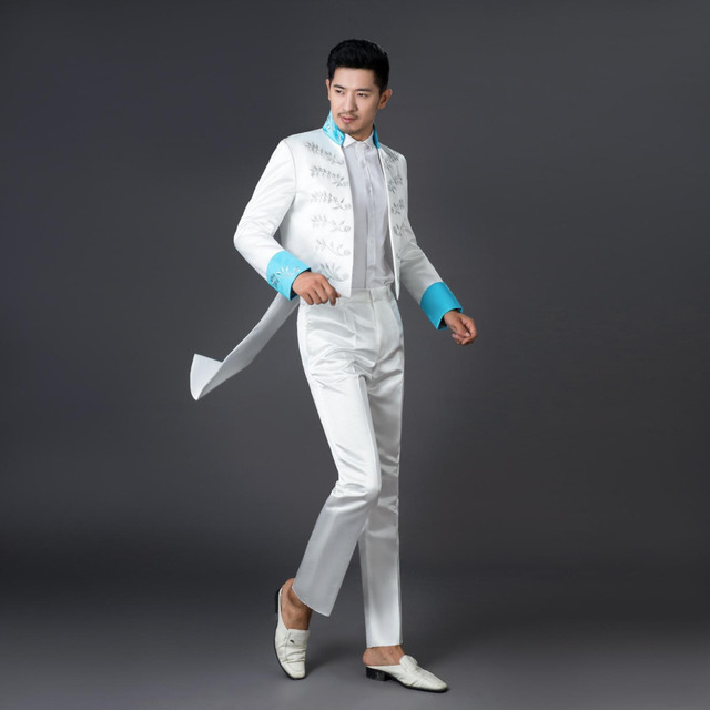 Brand White Tuxedo 2016 New Arrival Mens Slim Fit Suits With Pants ...